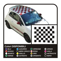 Stickers for FIAT 500 ABARTH bands for FIAT 500 roof roof assetto corse - NEW