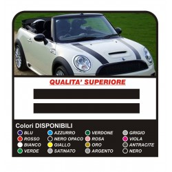 Stickers for MINI cooper bonnet stickers MINI COOPER fasce HOOD decals tuning