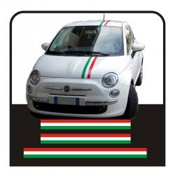 Pegatinas FIAT 500, el estilo, el abarth 500 pegatinas calcomanías KIT de bandas italianas 500
