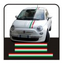 Stickers FIAT 500, style, abarth 500 stickers decals KIT bands Italian 500