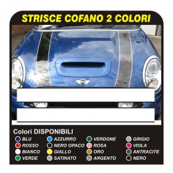 Pegatinas para el Mini Cooper franjas de capó-adhesivo, dos tonos de bmw cooper S bandas mini