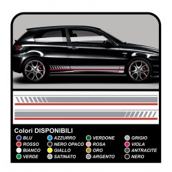 the kit decals STICKERS alfa romeo 147 ducati corse side bands
