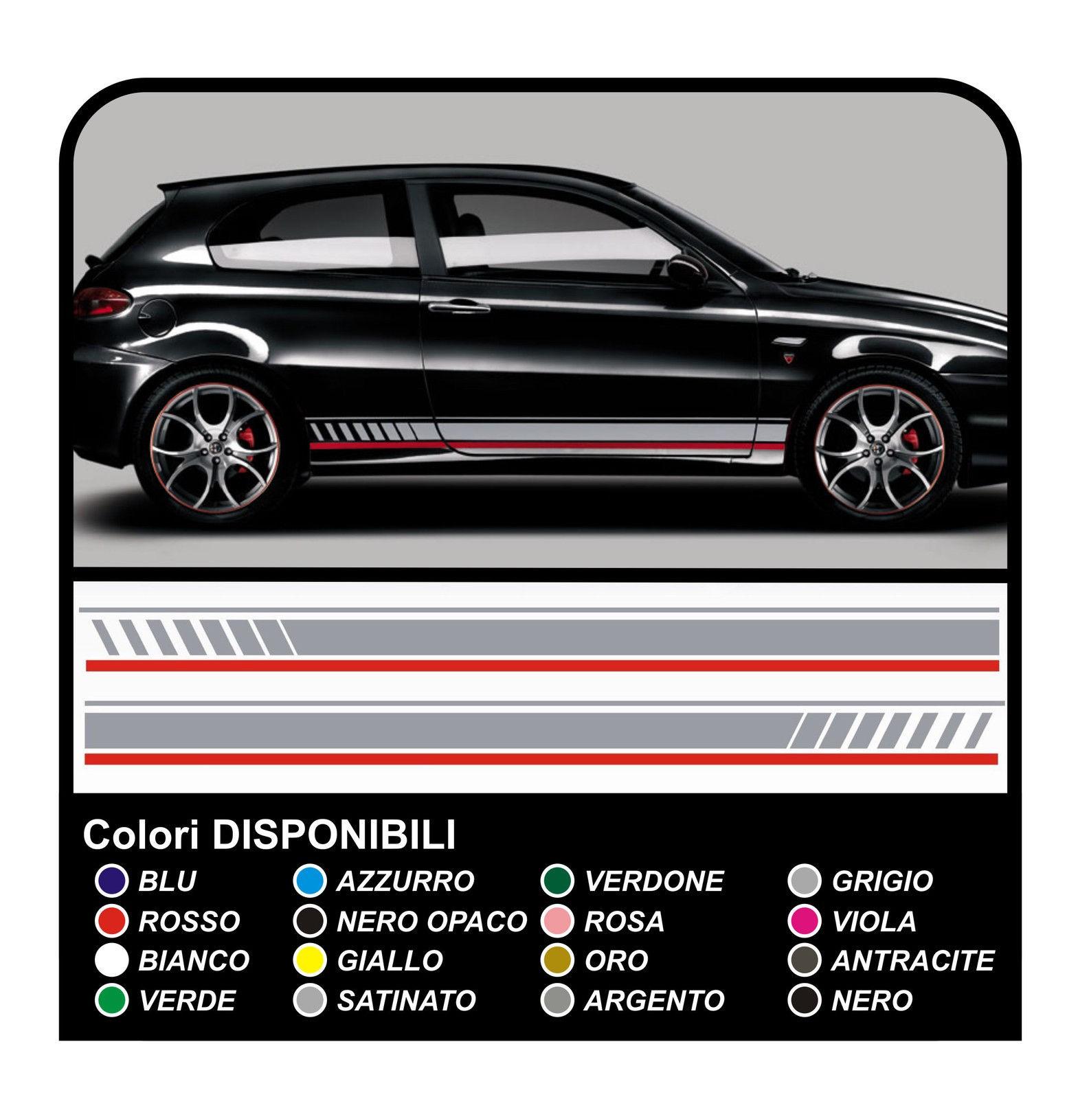 The Kit Decals Stickers Alfa Romeo 147 Ducati Corse Side Bands Mega Grafic S R L