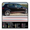 Stickers, bands and sides, compatible with alfa romeo 147 ducati corse