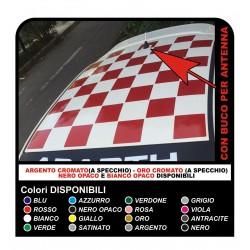 Pegatinas para el FIAT 500 ABARTH tiras de techo techo de tablero de ajedrez sticker decal