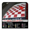 FIAT 500 stickers, ROOF stickers HOOD CHESS board WITH HOLE for antenna