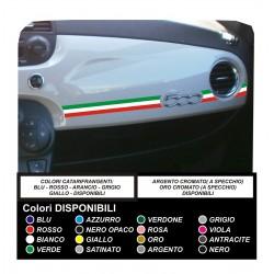Etiqueta engomada de la FIAT 500 TRICOLORE pegatinas fiat 500 plancia calcomanías