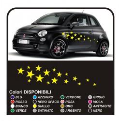 Kit de pegatinas para el coche-STAR 34PEZZI pegatinas de estrellas INTELIGENTE FIAT 500 coches pegatinas de estrellas