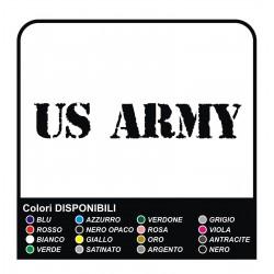 2 Stickers US ARMY, scratched, worn Car Bumper Wheel arch Vinyl cm20x5