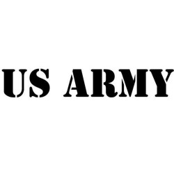 2 Pegatinas Ejército de los estados unidos de Coches Pegatinas de Vinilo cm40x4