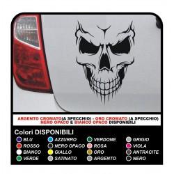 Etiqueta engomada de esqueleto COCHE MOTO BICICLETA, BARCO, CASCO de Parachoques Ventana pegatinas calcomanías