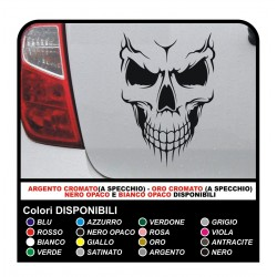 Sticker skeleton CAR MOTORCYCLE BIKE, BOAT, HELMET Bumper Window stickers decals