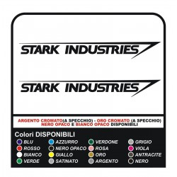 2 calcomanías de STARK INDUSTRIES para todos los smart auto, fiat 500 pegatinas, ironman