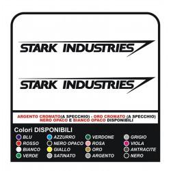 2 Calcomanías de INDUSTRIAS STARK de IRON-MAN-cm10 trasero inteligente fiat 500 mini cooper
