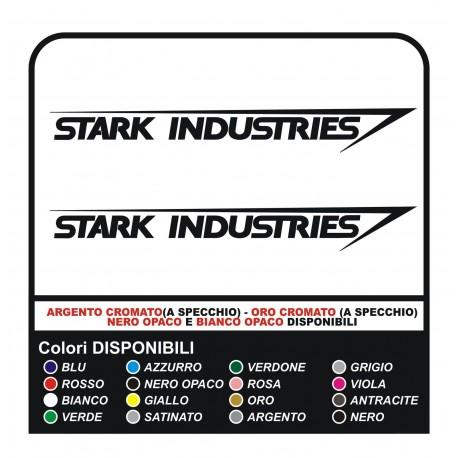 2 Decals STARK INDUSTRIES IRON-MAN-cm10 rear smart fiat 500 mini cooper