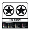 3 Decals STAR Jeep CJ CJ3 CJ5 CJ7 CJ8, US ARMY 45 cm star military 4X4