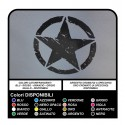 2 STICKERS 25 cm-STAR-scratch for Jeep WRANGLER WILLYS RENEGADE HARLEY DAVIDSON MOTORCYCLE HELMET