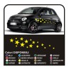 Kit d'autocollants pour voiture-STAR 34PEZZI autocollants étoiles SMART, FIAT 500 voiture autocollants étoiles