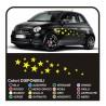 Kit stickers for car-STAR 34PEZZI stickers stars SMART FIAT 500 car stars stickers
