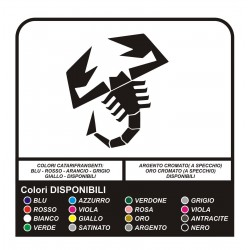 STICKERS, SCORPION, FIAT 500 ABARTH TUNING stickers decals hood 500