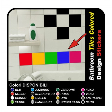 72 adhesives for tiles, cm 15x20 Decor Stickers Kitchen Tiles and bathroom