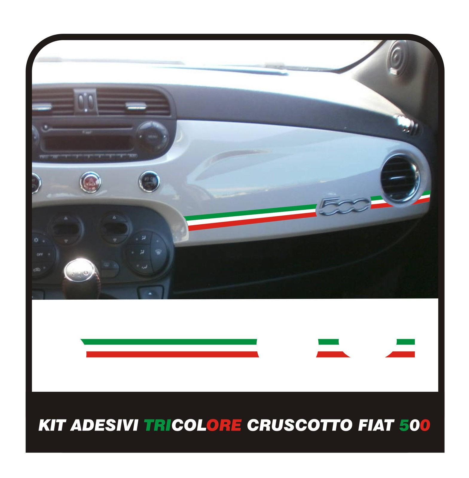 Auto Tuning Ed Elaborazione Stripes Strisce Adesive Per Cruscotto Fiat 500 Tricolore Italia Grudigital Com Br