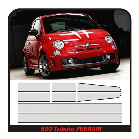 STICKERS for FIAT 500 ABARTH TRIBUTO FERRARI