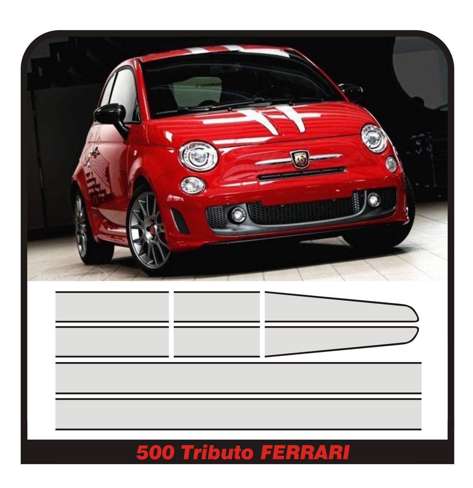 Adesivo per Fiat Abarth in carbonio con logo giallo accessorio decorativo per auto per 500 595 Punto 124 Spider