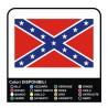Sticker Confederate Flag sticker hazzard sticker dodge sticker jeep flag