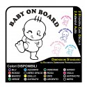 2 stickers car baby on board glasses, auto mirrors funny new stickers car
