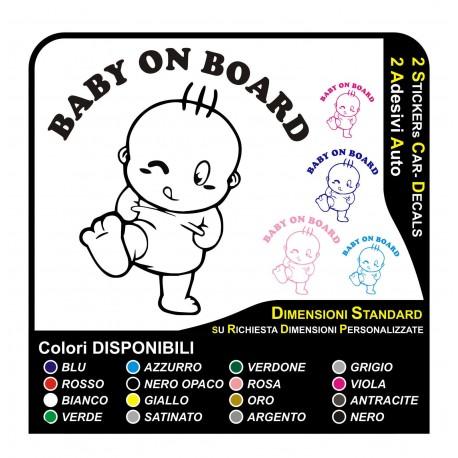 BABY ON BOARD - GLASS CAR TRUNK, CAMPER TRAILER CARAVAN ADHESIVE STICKER DECAL