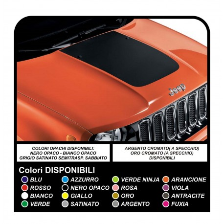 Adesivo Sticker Cofano Jeep nuova Renegade Qualità superiore Renagade decal