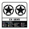 3 STICKERS cm 20 STAR + US ARMY x SUZUKI, JEEP, JEEP RENEGADE antique effect