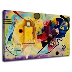 Le cadre Kandinsky, Jaune, Rouge et Bleu - WASSILY KANDINSKY, Jaune, Rouge et Bleu Peinture d'impression sur toile avec ou sans