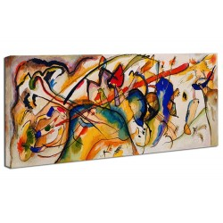 The framework Kandinsky Watercolor - WASSILY KANDINSKY Watercolor Picture print on canvas with or without frame