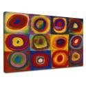 El marco de Kandinsky de Prueba de color, estudio de color - WASSILY KANDINSKY Colores studie