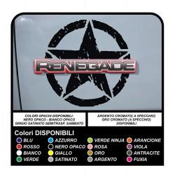 adhésifs pour la porte de la jeep renegade star militaire consommé à apposer sur le logo (version large)