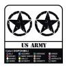 3 STICKERS cm 50 STAR JEEP RENEGADE - + US ARMY STICKERS 4x4