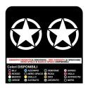 Coppia adesivi stella porte per Jeep Renegade
