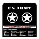 3 ADESIVI cm 20 STELLA + US ARMY STICKERS per Jeep Renegade SUV 4X4