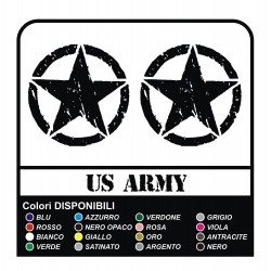 3 Adesivi STELLA US ARMY Jeep Renegade cm 10x10 stella militare 4X4