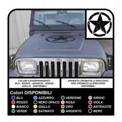 Adesivo STELLA militare consumata cm 50 offroad stella graffiata SUV JEEP 4X4