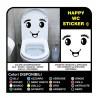 Adesivo bagno WC water casa tazza stickers decals Occhio sorriso wall stickers