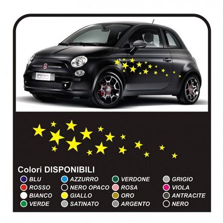 Kit Du0027autocollants Pour Voiture STAR 34PEZZI Stickers étoiles De Voiture  Autocollants étoiles