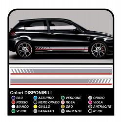 stickers SIDE for Alfa Romeo - the sides 147 the MYTH of ducati corse stickers Giulietta tuning decals