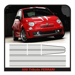 Adhesives, adhesive strips for fiat 500 abarth TRIBUTO FERRARI stripes 695 stickers hood roof and trunk