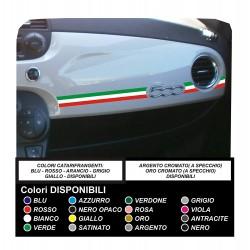 Sticker FIAT 500 TRICOLORE stickers fiat 500 plancia decals stickers for 500