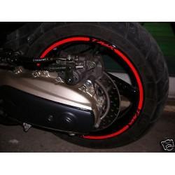Stickers de roues de moto bandes de roues, YAMAHA TMAX 500 tmax 530 autocollants cercles