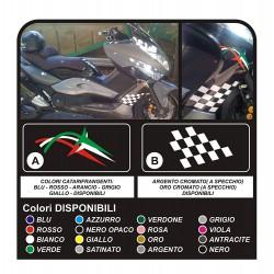 Aufkleber für YAMAHA T-MAX 500 für SEITENWAND frecce tricolore schachbrett