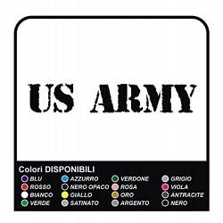 US ARMY STICKERS, Car Bumper Vinyl Sticker - 20 cm, WORN EFFECT